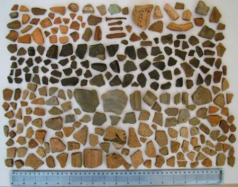 Pottery fragments found in and around South Marston