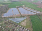 Airborne photo of South Marston Solar Farm taken by Alistair Rosser by Paramotor