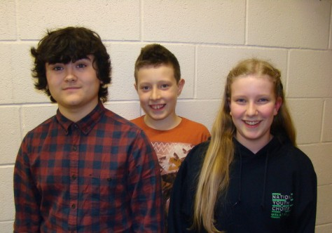 Will Pearson, Harvey Cullis and Matilda Wale