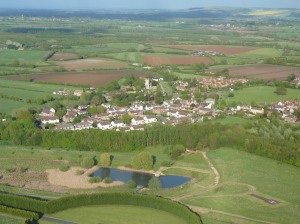 South Marston Village from over Honda