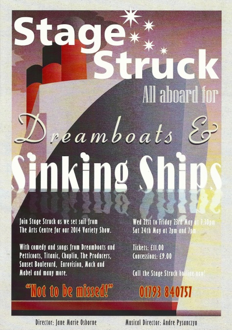 Stagestruck presents Dreamboats and Sinking Ships