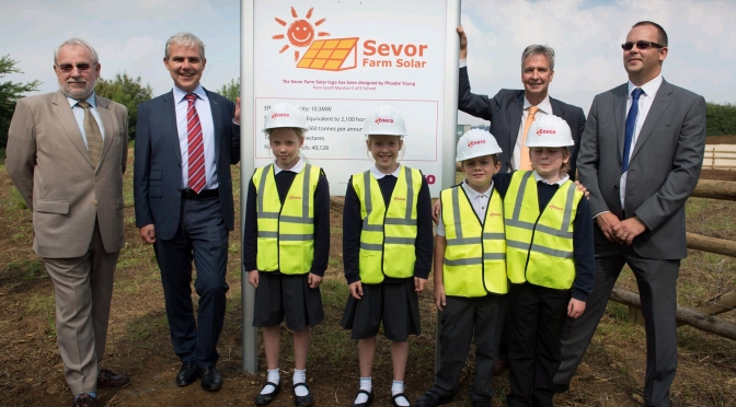 Advertiser – Pupils play part in opening solar farm