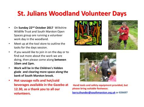 St Julians Volunteer Day Oct and Nov (1)