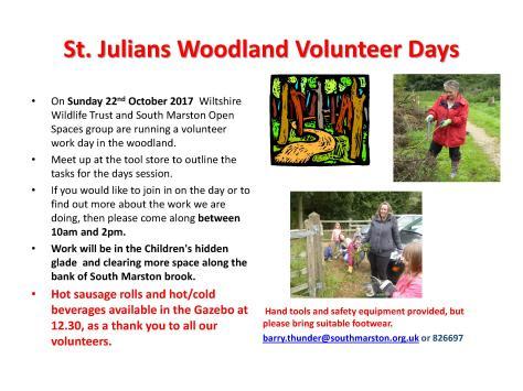 St Julians Volunteer Day Oct and Nov (1)