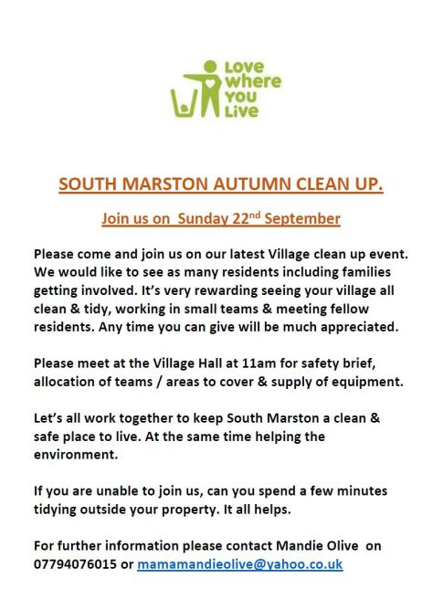 Village litter pick