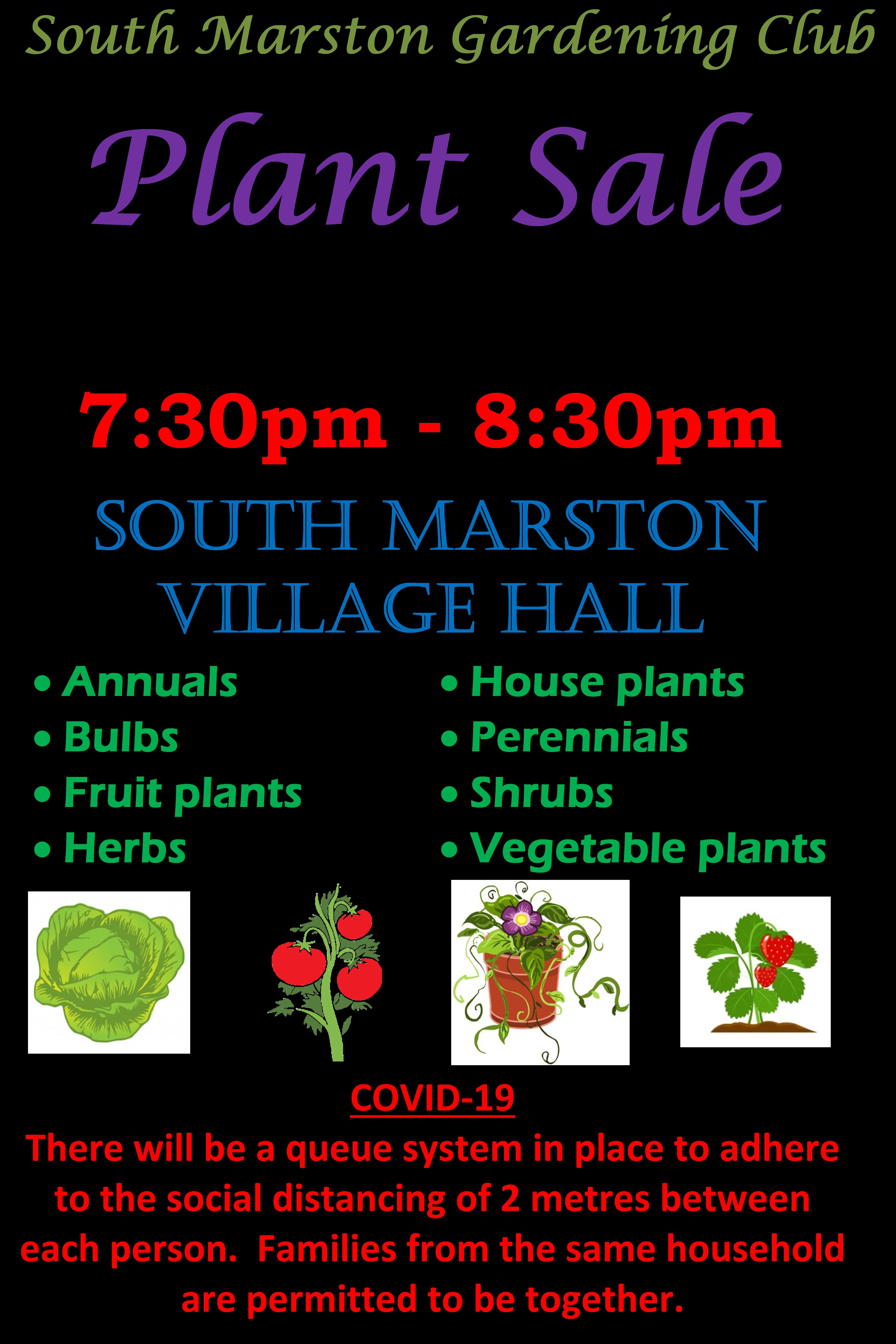 Plant Sale 1 June 20